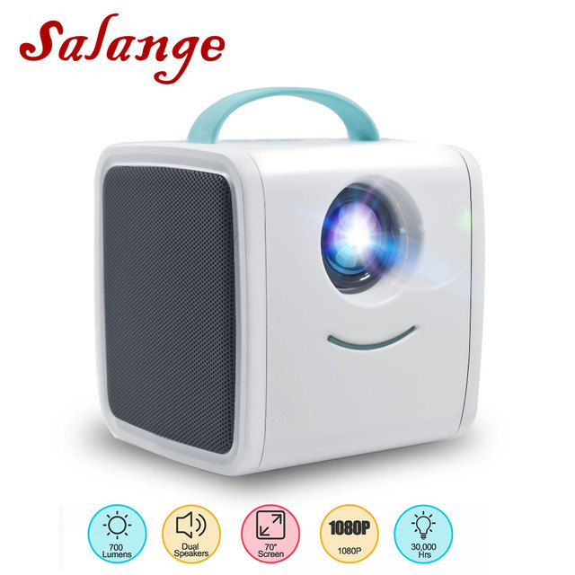 $ US $35.33 Salange Q2 Mini Projector,Children's Toy 700 Lumens Portable Projector Children Education Mini LED Home Theater for Christmas