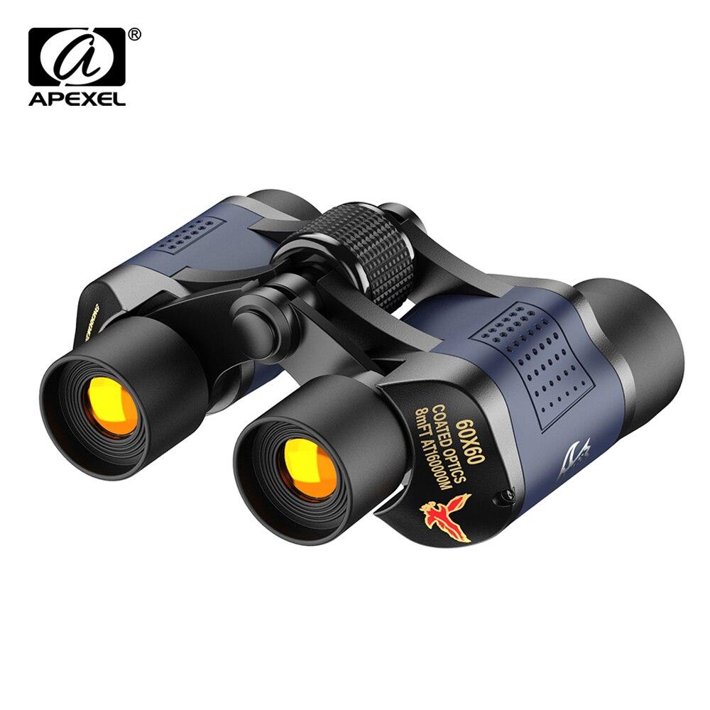 APEXEL High Clarity Telescope 60X60 Binoculars 10000M High Power Optical Night Vision Binoculars For Outdoor Hunting Sports