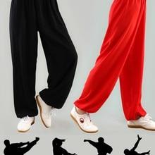 Китайские тренировочные брюки кунг-фу, штаны для боевых искусств, штаны Тай-Чи, свободные шаровары, штаны для йоги, Мужские штаны с крыльями, ...