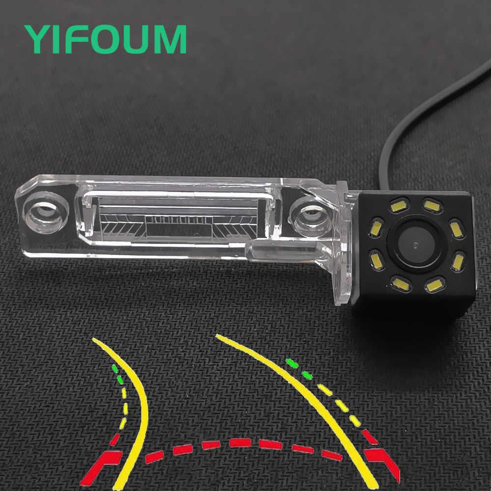 YIFOUM trajectoire dynamique piste voiture vue arrière caméra pour Volkswagen Golf Magotan Polo Bora Passat CC Touran Caddy Multivan T5
