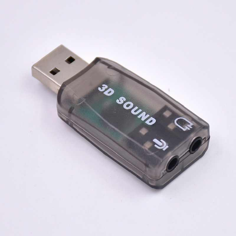 USB Sound Card Sistem Windows Kartu Suara Eksternal Komputer 5.1 USB Sound Card