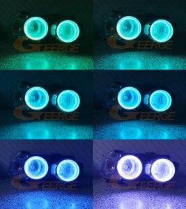 Image 5 - Kit de luces LED RGB para Chevrolet AVEO, mando a distancia por Bluetooth, multicolor, Ultra brillante, Ojos de Ángel