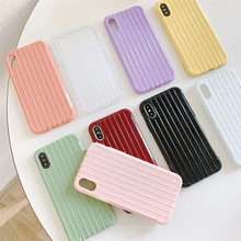 Seven color mobile phone case for iPhone  6 7 8 XS MAX X XR simple silicone back cover