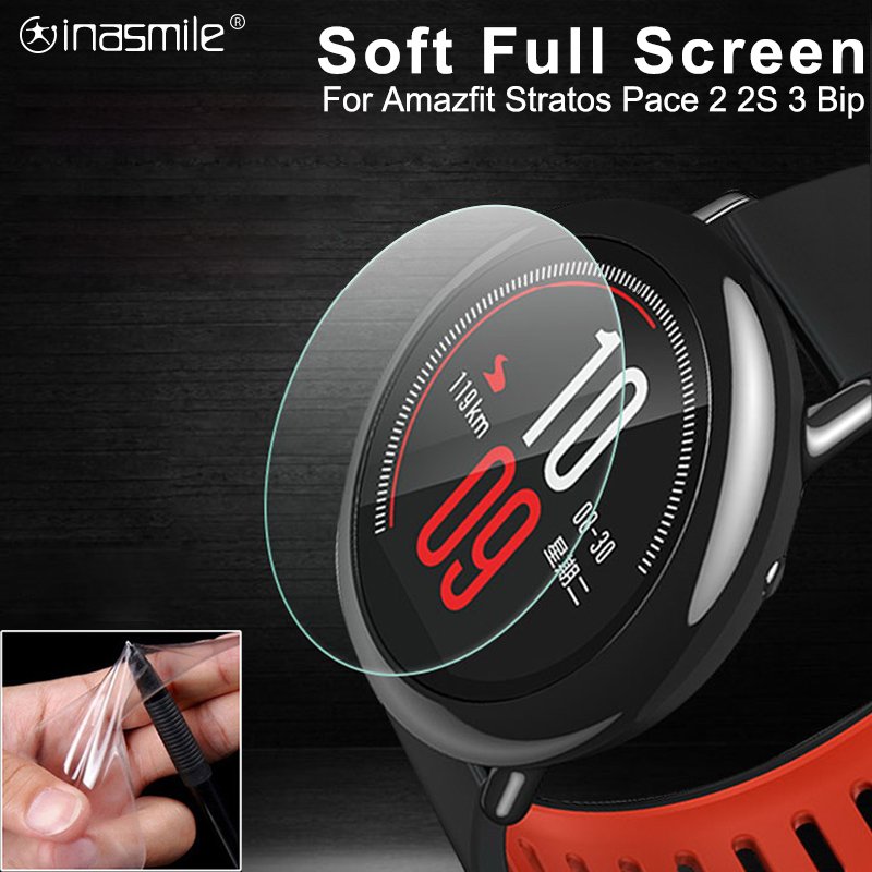 Soft Full Screen Protector For Huami Amazfit Stratos 2s 2 Pace Bip Band 2 Verge GTR 3 Smart Watch Protector Cover Accessories
