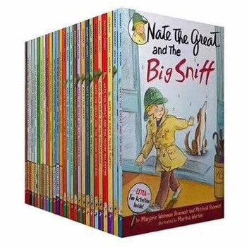 27 книг/набор Nate the Great английские книги для чтения чертов старшеклассник жизнь детективные романы книги