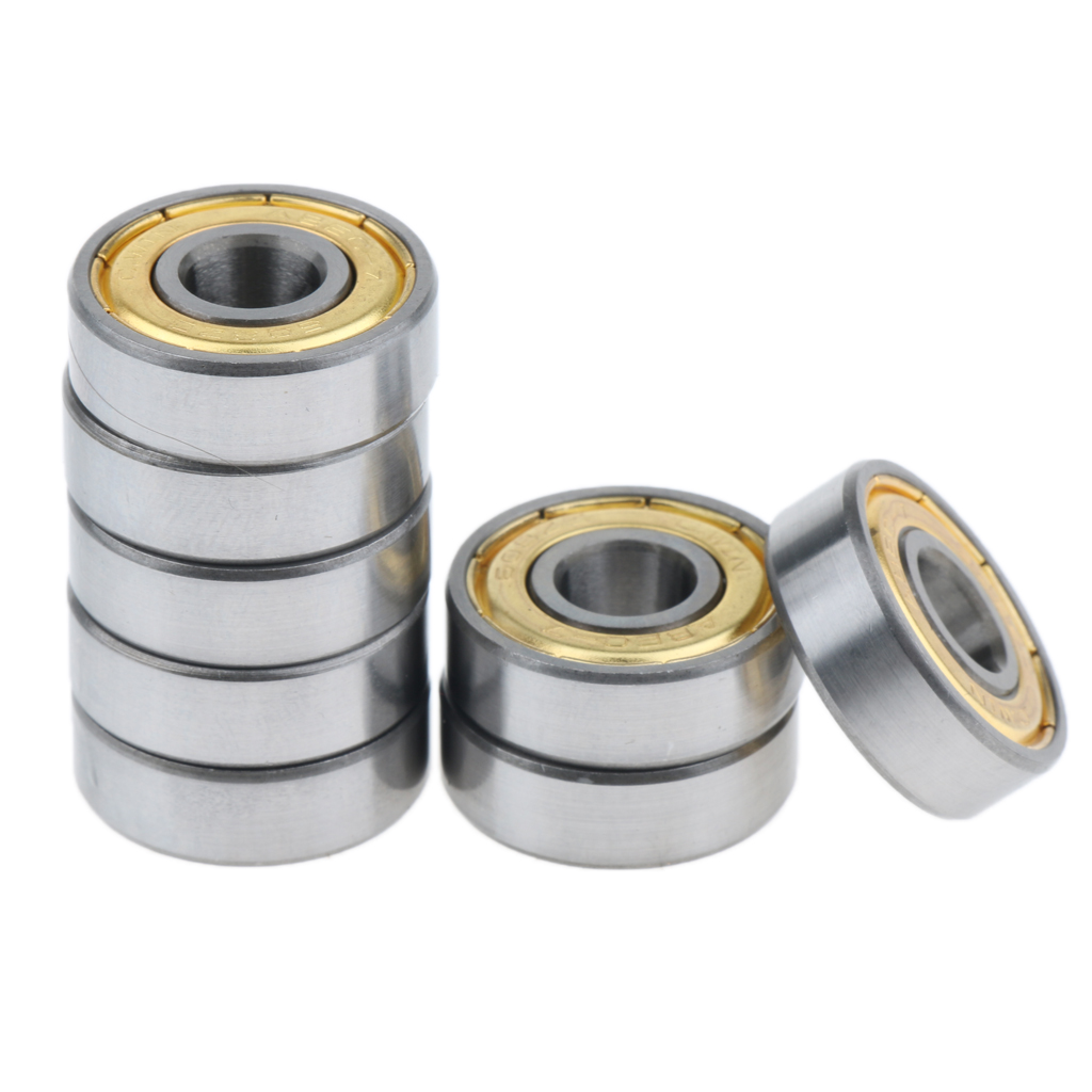 8pcs Chrome Steel Skateboard Bearings Longboard Skate Ball Bearing