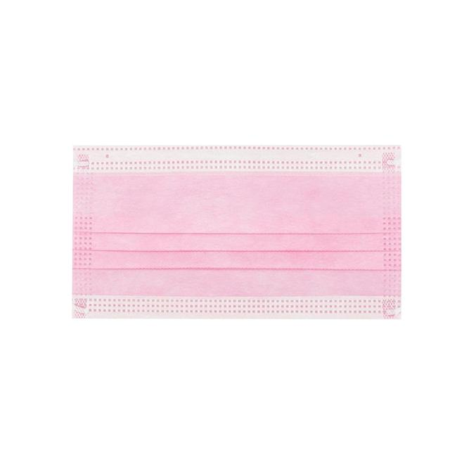 10/20/30/50/100/200 pcs Pink Color Non-woven 3 Ply Disposable Face Mouth Masks Breathable Mask with Elastic Ear Band Face Masks 5