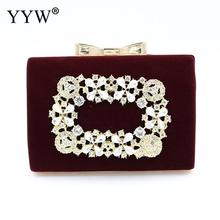 YYW Blue Evening Clutch Bag Wedding Bridal Clutches Purse With Box 2019 Vintage Metal Diamond Night Luxury Designer Sac