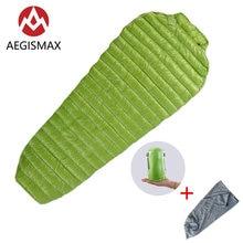 Мини спальный мешок aegismax с гусиным пухом для мам ультралегкий