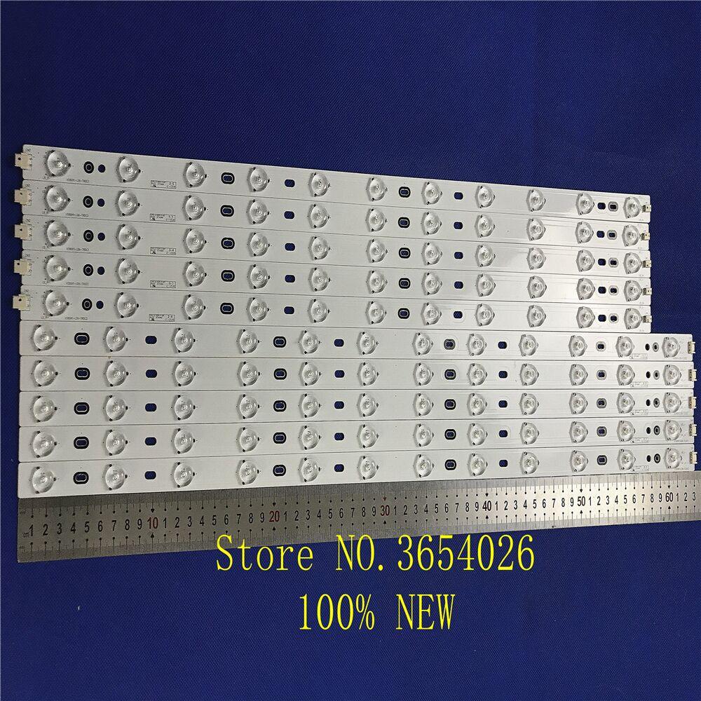 10piece/lot FOR Konka LED58R5500F Skyworth 58E560S LCD TV Backlight Strip V580H1-LD6-TRDC2/TLDC2 Is (5PCS 11LED+ 5PCS 12LED)