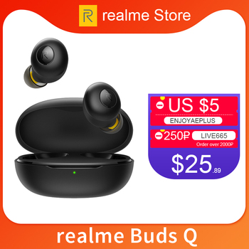 Realme Buds Q Wireless Earphones Bluetooth TWS 400mA Battery Charger Box Bluetooth 5.0 For Realme X2 Pro X50 Pro 6 6i