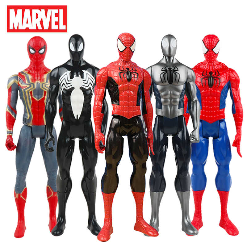 Endgame 30 centímetros Marvel The Avengers Superhero Spiderman Venom Spider Man Action Figure Toy Model Collection Para Crianças-Aranha homem