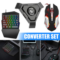 2019 Gaming Keyboard Mouse Converter Set Mobile Gamepad Controller for Android IOS Phone H best|Keyboard Mouse Combos|   -