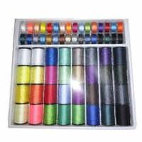 64 linha carretéis kits de costura fita agulha tesoura multifunções diy ferramentas de costura sep99