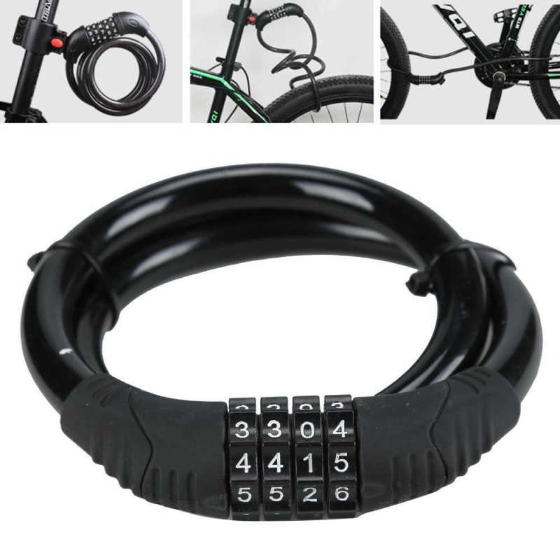 Cycling Security 4-Digit Combination Password Bike Bicycle Chain Kit