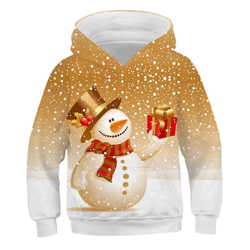 Зима 2020, Рождество, 3D толстовки для мальчиков и девочек, толстовка с Санта Клаусом, Повседневная Уличная одежда с капюшоном на осень и зиму, модная одежда|Толстовки и кофты|   | АлиЭкспресс