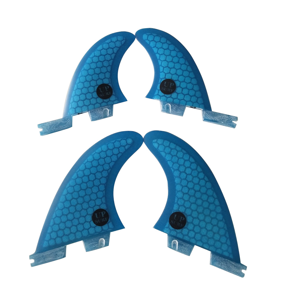FCSII G5+GL Surfboard Blue/Black/Orange Color Honeycomb Fins Quad Fin Set FCS 2 Fin Hot Sell FCS II Fin Quilhas