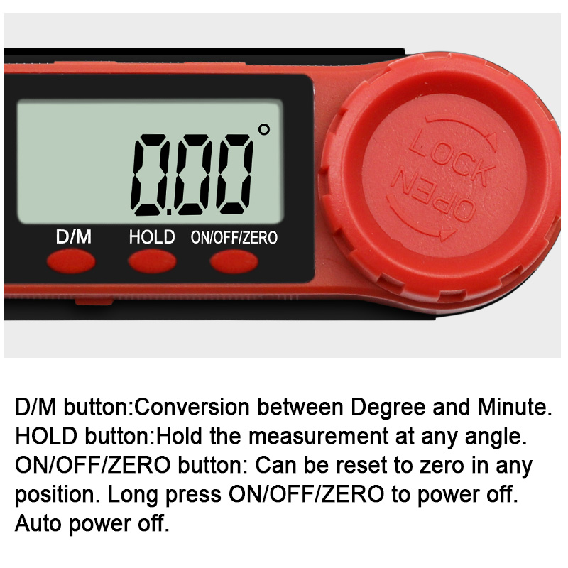 Digital Protractor Angle Finder Inclinometer electronic Level 360 degree with without Magnets Level angle slope test Ruler