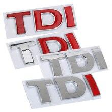 3D 금속 창의력 Applique 폭스 바겐 골프 제타 PASSAT MK4 MK5 MK6 반사 TDI 로고 엠 블 럼 자동차 스티커 직접 Njection