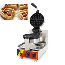 Commercial Electric Dual Rotary Waffle Baker Maker Egg Cake Oven Pancake Non-stick Baking Pan Breakfast Machine Muffin цена