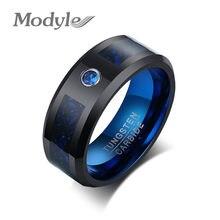 Modyle 8mm noir tungstène hommes bande de mariage de haute qualité en métal anti-rayures hommes anneau d'affaires