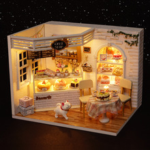 Домик для собственной сборки торт дневник дом Hand-made модель вилла игрушки Детский жакет из денима для девочки; творческий подарок на день рождения