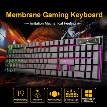 цена на Wired gaming keyboard mechanical sensation Backlit keyboard USB 104 keyboard English keyboard waterproof computer game keyboards