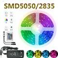 Светодиодный светильник полосы светильник s Водонепроницаемый Bluetooth Управление WI-FI RGB 5050 светильник ing дистанционного лента 5 м 10 м 20 гирлянд...