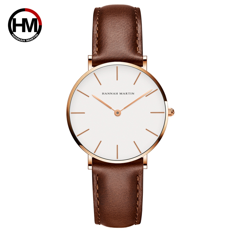 Women Watches Creative Top Brand Japan Quartz Movement Watch Fashion Simple Causal Leather Strap Female Waterproof Wristwatches
