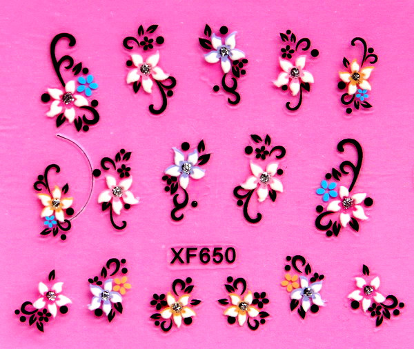 XF Nail Sticker 3D Varved Nail Sticker Bride A Hand Explicit Whitening XF650