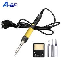 A-BF GS90D Elektrische Lötkolben LCD Display Einstellbar Temperatur Hand Schweißen Tool Kit 220V Solder Eisen mit Löten Tipps