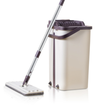 SDARISB ทำความสะอาด Mops ฟรี Spin Mop ถังเส้นใยผ้าชั้นบีบสเปรย์ FLAT Mop ห้องครัวชั้นทำความสะอาด