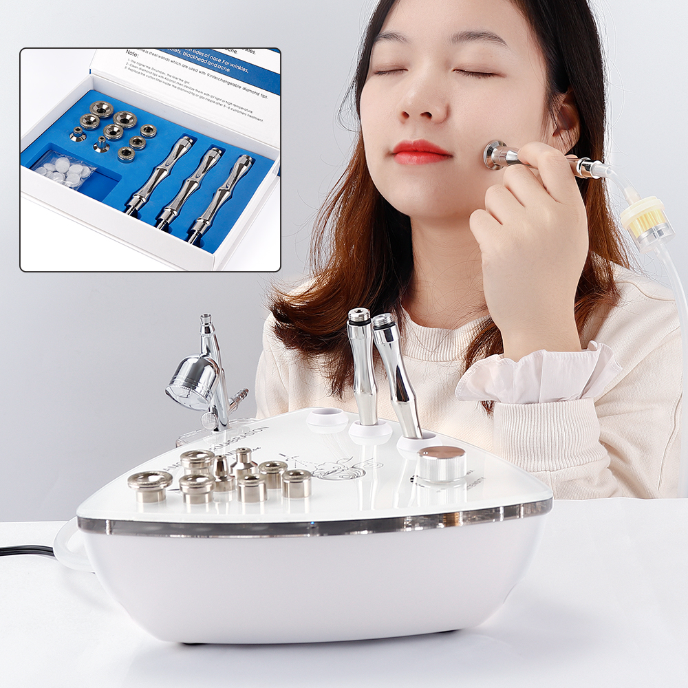 Diamond Microdermabrasion Dermabrasion With Spray Water Spray Gun Vacuum Suction Exfoliation Skin Rejuvenation Whitening
