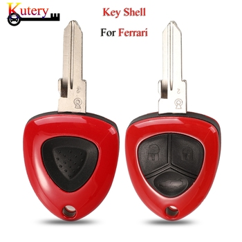 Kutery 10pcs/Lot Remote Car Key Shell For Ferrari 458 F430 612 1/3 Buttons With Uncut Blank Blade Key Cover Fob Case Replacement