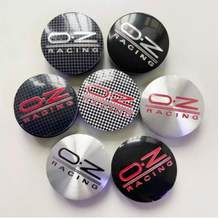 4PCS COLORS 56MM OZ Racing Car Wheel Center Hub Caps Car Emblem Badge Logo Wheel Center Cap label car styling accessories