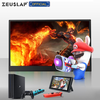 ZEUSLAP 15.6inch USB C HDMI-Compatible 1920*1080P PD HDR Monitor with Earphone port Ultrathin Portable Screen Gaming Monitor 6
