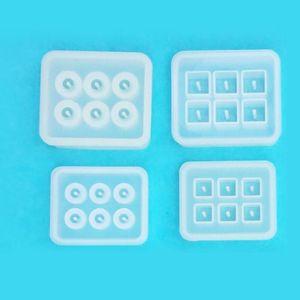 Image 5 - 12Pcs ขนาดรอบสแควร์ Roundle ลูกปัดเรซินแม่พิมพ์เครื่องประดับอัญมณีทำ