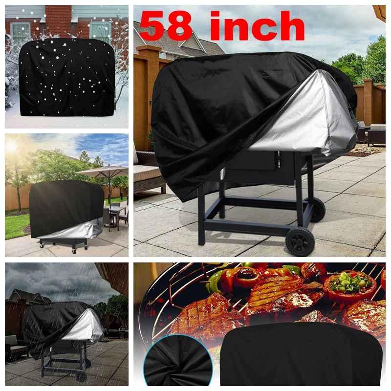 Capa para churrasco, grelha à prova d'água, cobertura de poeira, resistente, capa de chuva, proteção para churrasco ao ar livre