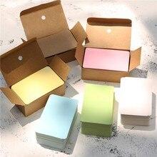 100 folhas/caixa de papel cartão de mensagem em branco manuscritos memorando notecards saudação bênção obrigado cartão você
