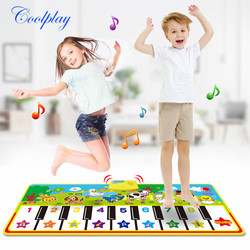 4 стиля музыкальный коврик с голосом животных, детский коврик для игры на пианино, Музыкальный Игровой инструмент, игрушки, Ранние развивающ...