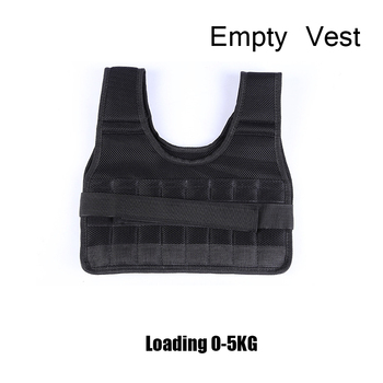 5-60KG Loading Weight Vest for Boxing Weight Training Workout Fitness Gym Equipment Adjustable Waistcoat Jacket Sand Clothing 17