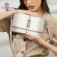 Himalaya-bandolera de cuero para mujer, diseño clásico, a la moda, de lujo, color blanco y negro, novedad de verano 2021