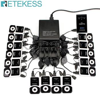 Wireless Tour Guide System 16 Port Charger Base+Transmitter+15 Receiver T131 for Tour Guiding Simultaneous Translation Meeting