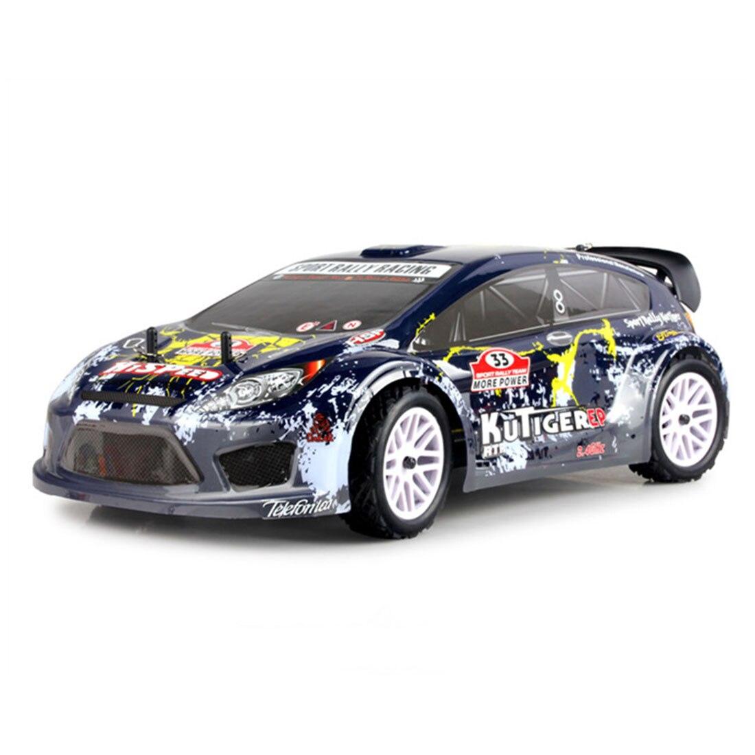 HSP 94118 1:10 4WD électrique brossé haute vitesse tout-terrain rallye Racing 2.4G sans fil RC modèle voiture (couleur aléatoire de la coque de voiture)