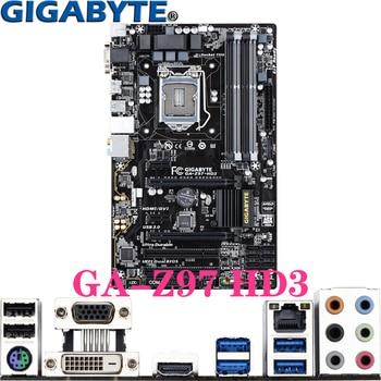 Gigabyte GA-Z97 HD3 For LGA1150 Intel Core I7/i5/i3 Pentium/Celeron DDR3 32GB HDMI DVI LGA-1150 Z97 ATX Desktop PC motherboard intel core i5 4430s i5 4430s processor 6m cache 2 7ghz lga1150 desktop cpu