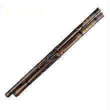 Черные линии Китайская традиционная флейта Xiao Key A/bB/F/G ручной работы бамбуковый духовой инструмент 8 отверстий профессиональный инструмент