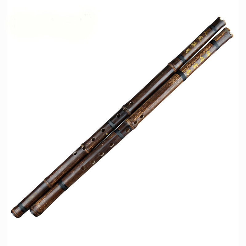 Black Lines Chinese Traditional Flute Xiao Key A/bB/F/G Handmade Bamboo Wind-instrument 8 Holes Professional Instrument