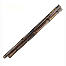 Black Lines Chinese Traditional Flute Xiao Key A/F/G Handmade Bamboo Wind-instrument 8 Holes Professional Instrument