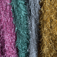 1Meter Tassels Velvet Cloth Fabric For Sewing Clothes High quality Fabric For Women Dress