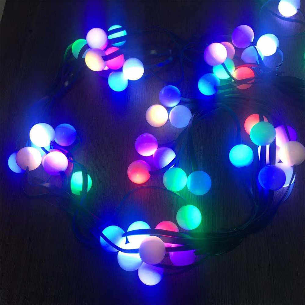Party Deko Licht Treppengeländer Dekor Weihnachtslampe Blütenblätter LED String
